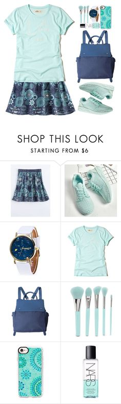"""Casual"" by beebeely-look ❤ liked on Polyvore featuring Hollister Co., Forever 21, Casetify, NARS Cosmetics, casual, monochrome, school, sneakers and twinkledeals"