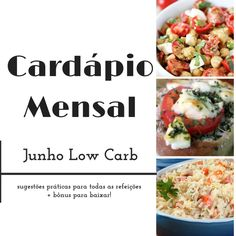 Cardápio low carb para download