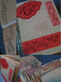 GREAT idea for capturing memories (and easier than elaborate scrapbook pages)
