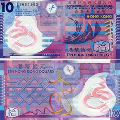 HONG-KONG-10-DOLLARS-2007-P-401b-UNC