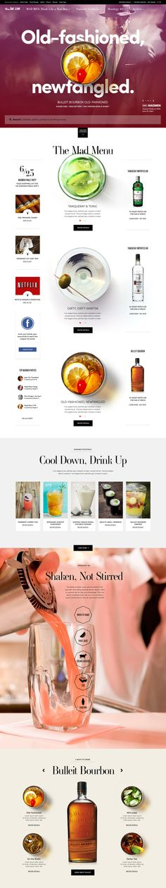 Long scrolling site - top down view - Diageo by Heather Luipold, via Behance