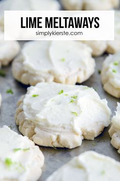 Lime Meltaways   simply kierste.com - Lime Meltaways are the perfect cookie for spring and Easter! A combination of melt-in-your-mouth shortbread and lime buttercream frosting!