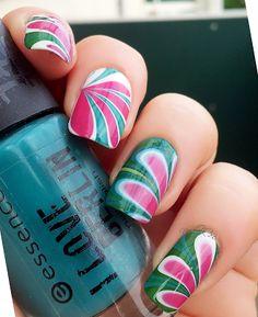 [NOTD] Ich habe eine Wassermelone getragen!!1111 #watermelon inspired nails | Nagellack 2.0