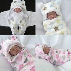 First Steps ★ Babydecke Wickeldecke ★ Schmuse-Decke Puck-Sack Baby 0-4 Monate