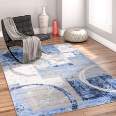 Well Woven Ash Blue Indoor Area Rug | Wayfair