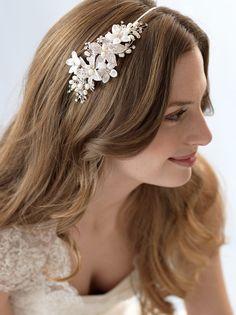 Floral Wedding Headband Bridal Hair Accessory Floral Bridal