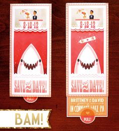 Shark Save the Dates! | wedding invites + paper design