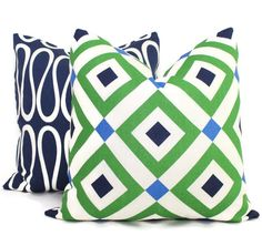 Jonathan Adler Vionnet Green Decorative Pillow Cover, Throw Pillow, Accent Pillow, Toss Pillow, Vionnet Garden, Diamond pillow cover