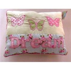 Shabby Chic 'DREAM' Applique Detailed Sentiment Cushion: Amazon.co.uk: Kitchen & Home