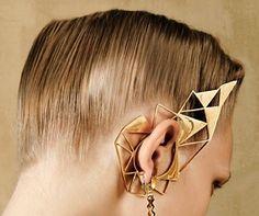 Metal Gear, Jewelry Bracelets, Jewellery, Ear Piercings, Hoop Earrings, Jewels, Chic, Gold, Accessories