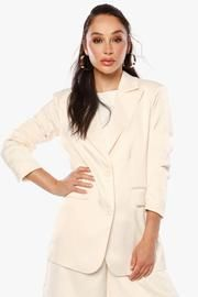 Strong Shoulders, Pleated Shorts, Oversized Blazer, Spring Summer, Satin, Product Description, Collection, Tops, Dresses