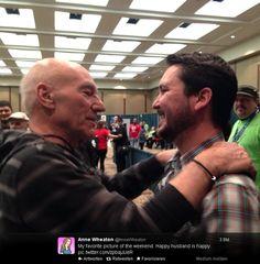 Sir Patrick & Wil Wheaton at Emerald City Comic Con (via Anne Wheaton)