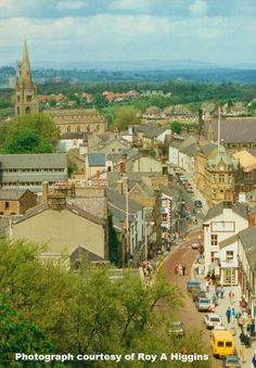 Clitheroe viewed from the castle. Photograph Roy A Higgins