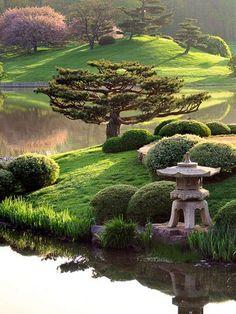 Les jardins japonnais emprunts de zénitude