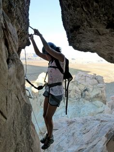 Via Ferrata- great hike Discovered by Katie Cohen at Amangiri, Emery County, Utah