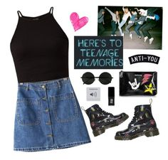 """""""Long live the reckless and the brave"""" by cysha ❤ liked on Polyvore featuring Chicnova Fashion, Dsquared2, Dr. Martens and JINsoon"""