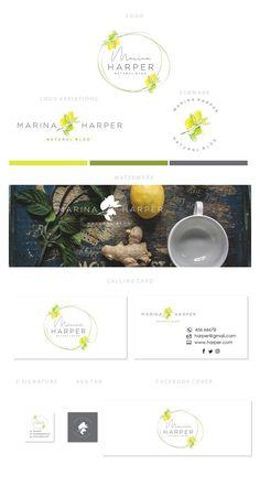 Branding kit logo design - Organic products logo - Natural product - Lemon logo design - Organic he Web Design, Food Logo Design, Logo Food, Custom Logo Design, Graphic Design, Branding Kit, Branding Design, Branding Ideas, Logo Ideas