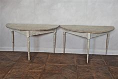 19th Century Half Moon Tables Sweden.  www.fuchs-interiors.de