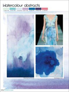 Color fashion forecast Spring Summer 2014 watercolor trend - Previsione colori Primavera Estate 2014 trend acquerello