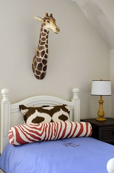 I LOVE the Giraffe Head.  Could paint a solid glossy color. |Pinned from PinTo for iPad|