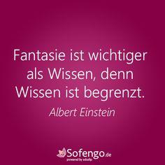 Fantasie ist wichtiger als Wissen, denn Wissen ist begrenzt.- Albert Einstein