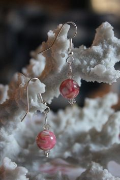 Check out this item in my Etsy shop https://www.etsy.com/listing/192256405/pink-marble-silver-earrings-115