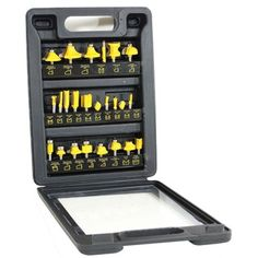 @Overstock.com - Buffalo Tools Router Bit Set - This router bit set includes assorted bits for slotting, grooving, rabbeting and freehand routing to shape, form, cut and mill materials. This router set is perfect for plastic, wood and other soft materials for use by hobbyists. http://www.overstock.com/Home-Garden/Buffalo-Tools-Router-Bit-Set/5992225/product.html?CID=214117 $54.97