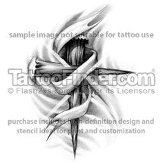 staked at the cross tattoo design by Hot Rodd