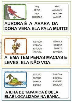 Fichas de Leitura com frases - Fichas Ilustradas com Palavras