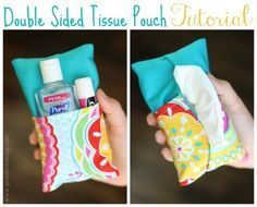 Easy Sewing Projects to Sell - Double Sided Tissue Pouch Tutorial - DIY Sewing Ideas for Your Craft Business. Make Money with these Simple Gift Ideas, Free Patterns, Products from Fabric Scraps, Cute Kids Tutorials diyjoy.com/...