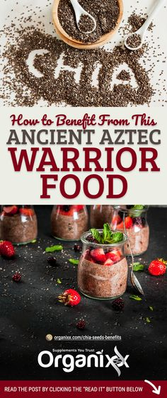 """HEALTHY SEED: They may not seem like much on the surface but chia seeds (Salvia hispanica) are one of the most nutritionally-dense """"superfoods"""" on the planet. Click on the image above to discover how to benefit from this food of the ancient aztec warriors!   how to use chia seeds   are chia seeds healthy   how chia seeds help your health   chia seed health benefits   #chia #organixx #organixxhealthtips"""