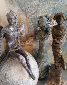 Figuren und Objekte -  #contemporarysculpture #claysculpture #figurativesculpture Sculpture Art, Garden Sculpture, Contemporary Sculpture, Clay Art, Ceramic Art, Ceramics, Statue, Crafts, Figurative
