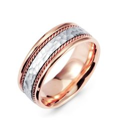 find this pin and more on eyriana by sheilabrown76 mens white and rose gold handmade wedding band