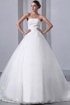 Organza Ball Gown Ivory Wedding Gown