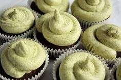 green tea cupcakes with matcha buttercream