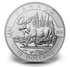 Canada 2014 $10 1/2 oz. Fine Silver Coin - The Moose (2014)