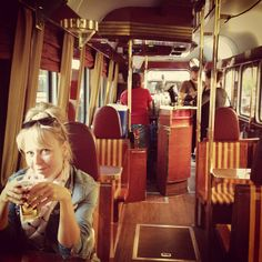This fancy tram, which leaves from the train station, actually serves beer while simultaneously taking you on a scenic tour of the city. Cities In Europe, Fun At Work, Train Station, Helsinki, Four Square, Finland, The Neighbourhood, Beer, Study