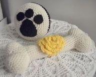 New Crochet Bone & Ball Dog/Cat Toy ~ Dental Toys ~ Handmade Crochet   #giftideas #gifts #pets