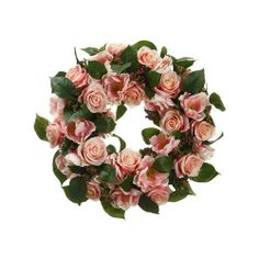 "18"" Rose/Anemone/Viburnum Berry Wreath Pink (Pack of 1) by All State Floral Inc.. $69.16. Pack of 1. Made in China. Height - 18"". Width -. Long -. Rose/Anemone/Viburnum Berry Wreath Pink"