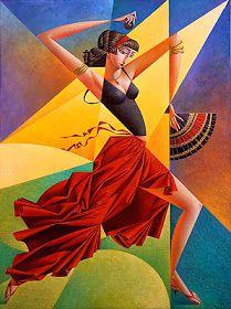 "Georgy Kurasov : ""Flamenco"" , 2002 , oil on canvas , cm Cubist Artists, Cubism Art, Scrapbooking Image, Dance Paintings, Art Deco Posters, Arte Pop, Art Mural, Art Forms, Amazing Art"