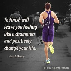 #JeffGalloway #MotivationMonday #FoxCitiesMarathon #running #runner #inspiration #fitspo #marathon #halfmarathon #5k #relaymarathon