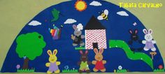 Hoy os dejo una idea que estoy segura que os encantará.La alfombra mágica es una alfombra cuentacuentos, hecha con la ayuda de los niño...