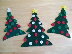 Felt trees w/ felt ornaments that kids can decorate and redecorate over and over and over... could also use this idea for other holidays (like Pink Lemonade did) i.e. pumpkin with different facial features for Halloween