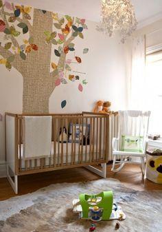 Love this fabric tree idea for a nursery