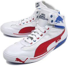 Michael Schumacher Racing Shoes Puma Silver Red