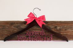 Personalized dress hangers for wedding $16.99/each
