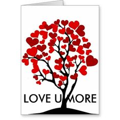 Valentine heart tree card
