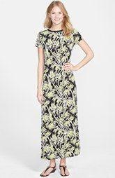 MICHAEL Michael Kors 'Bamboo' Crewneck Maxi Dress (Regular & Petite)