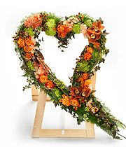 Orange Swinging Heart