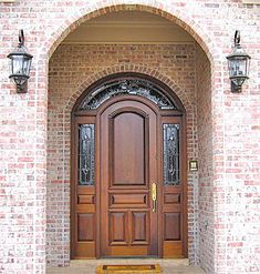 I need an arch top wooden door with sidelights.  Swoon.